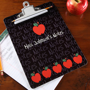 Gifts for Teachers - A+ Teacher Personalized Clipboard