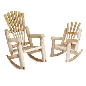 Baseball Gifts - Baseball Bat Rocking Chair
