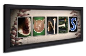Baseball-Themed Gifts - Personalized Baseball Name Art Print