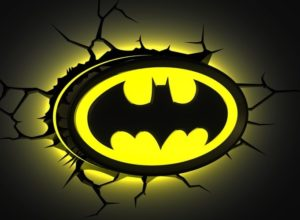 Batman Gifts - 3D Bat Symbol Wall Light