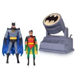 Batman Gifts - Batman and Robin Action Figures with Bat Signal