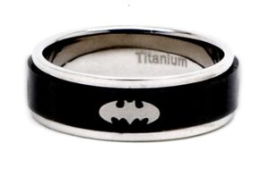 Batman Gifts for Men - Titanium Batman Spinner Ring