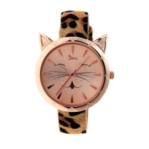 Christmas Gifts for Women - Boum Miaow Ladies Cat Face Watch