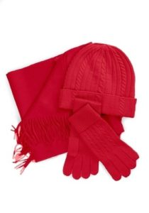 Christmas Gifts for Women - Fishers Finery Cashmere Scarf, Hat, and Gloves Gift Set