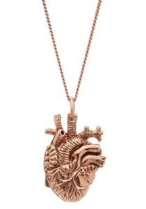 Christmas Gifts for Women - Rose Gold Anatomical Heart Pendant Necklace