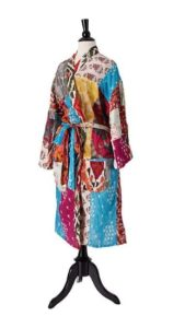 Christmas Gifts for Women - Upcycled Cotton Sari Robe
