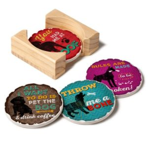 Dog Lover Gifts - Dog-Themed Drink Coaster Set