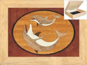 Dolphin Gift Ideas - Wood Art Dolphin Jewelry Box