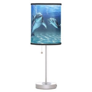 Dolphin Gifts - Dolphin Table Lamp