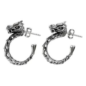 Dragon Gifts - Balinese Dragon-Themed Half-Hoop Earrings