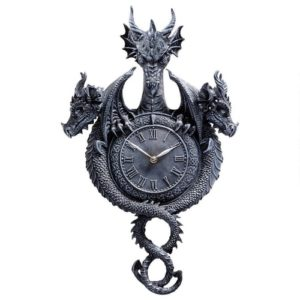 Dragon Gifts - Past, Present, Future Sculptural Dragon Wall Clock