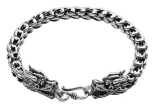 Dragon Gifts for Him or for Her - Sterling Silver Dragon Bracelet