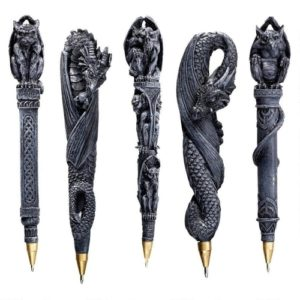Dragon-Themed Gifts - Gargoyles and Dragons Sculptural Pen Set