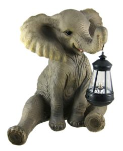 This Adorable Little Elephant Will Light Up Any Porch Or Yard With The Lantern That He Joyously Holds In His Trunk A Very Cute Gift