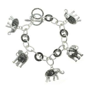 Elephant Gifts - Elephant Charm Bracelet