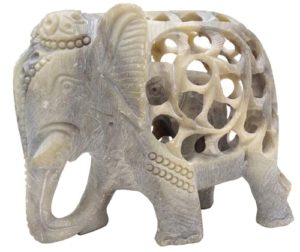 Elephant Gifts - Mother Elephant Sculpture with Baby Inside