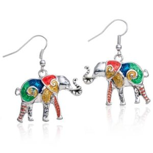Elephant Gifts - Multicolor Elephant Earrings