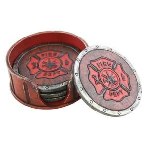 Firefighter Gift Ideas - Set of Fire Department Coasters