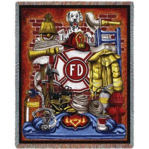 "Firefighter Gifts - ""Fireman Pride"" Tapestry Throw Blanket"