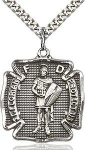 Firefighter Gifts - Sterling Silver St. Florian Pendant