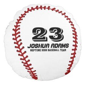 Gifts for Baseball Players - Customized Baseball Pillow