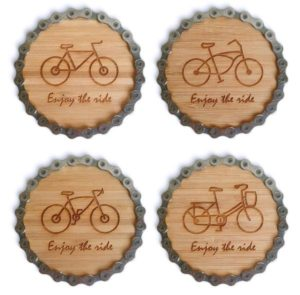 Gifts for Cyclists - Bike Chain Coaster Set