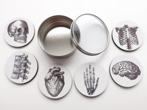 Gifts for Doctors - Anatomy Coasters Gift Set