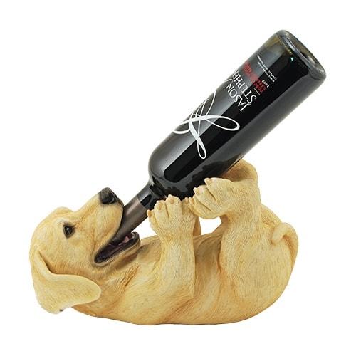 Gifts for Dog Lovers - Playful Pup Wine Bottle Holder