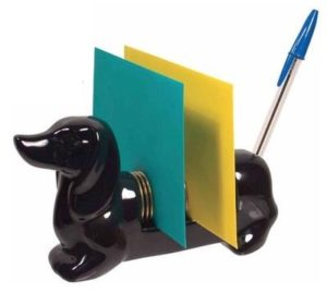 Gifts for Dog Lovers - Porcelain Dachshund Letter Organizer