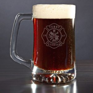 Gifts for Firefighters - Personalized Firefighter Beer Mug