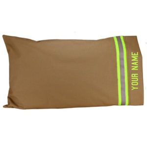 Gifts for Firefighters - Personalized Turnout-Gear-Style Pillow Case
