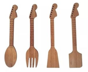 Gifts for Guitar Lovers - Guitar Kitchen Utensil Set