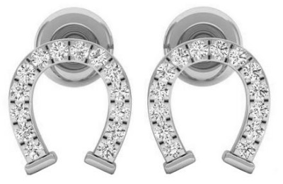 Gifts for Horse Lovers - Diamond Horseshoe Earrings
