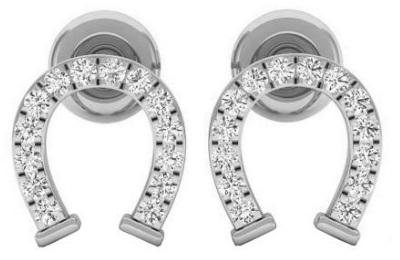 Gifts for Horse Lovers - Diamond Horseshoe Earrings