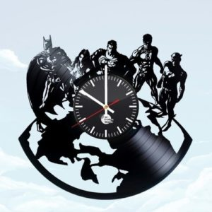 Gifts for Justice League Fans - Justice League Vinyl Record Clock