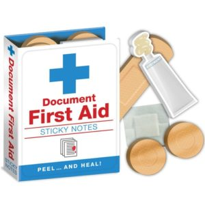 Gifts for Nurses - First Aid Sticky Notes Booklet