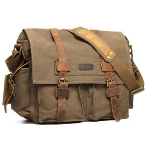 Gifts for Photographers - Kattee Canvas Vintage-Style Camera Messenger Bag