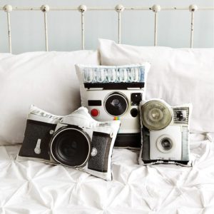 Gifts for Photographers - Vintage Camera Pillows