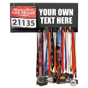 Gifts for Runners - Customized Race Bib and Medal Display