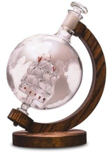 Gifts for Wine Lovers - Globe Decanter with Ship Inside