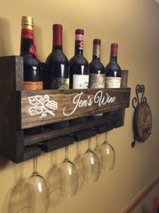 Gifts for Wine Lovers - Personalized Wine Rack