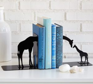 Giraffe Gifts - Giraffe Family Bookends