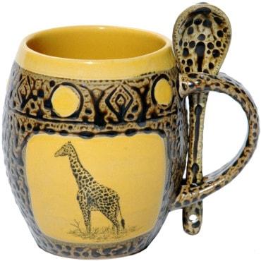 Giraffe Gifts - Giraffe Mug with Spoon