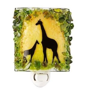 Giraffe Gifts - Recycled Glass Giraffes Nightlight