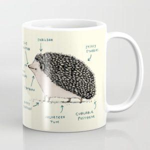 """Hedgehog Gifts - """"Anatomy of a Hedgehog"""" Mug"""