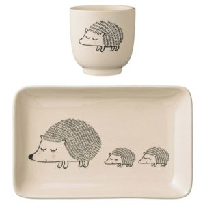 Hedgehog Gifts - Ceramic Hedgehog Plate and Cup Set