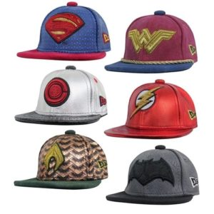Justice League Gifts - Limited Edition Collectible Justice League Movie Armor Mini-Hat Set