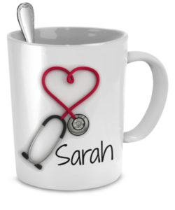 Nurses Week Gifts - Personalized Stethoscope Coffee Mug
