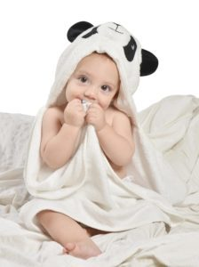 Panda Gifts for Baby - Bamboo-Fiber Hooded Panda Baby Bath Towel Gift Set