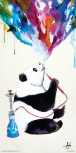 Panda Gifts - Panda Smoking a Hookah Art Poster